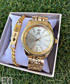 גאדג'טים ומתנות שעון ED זהב-3