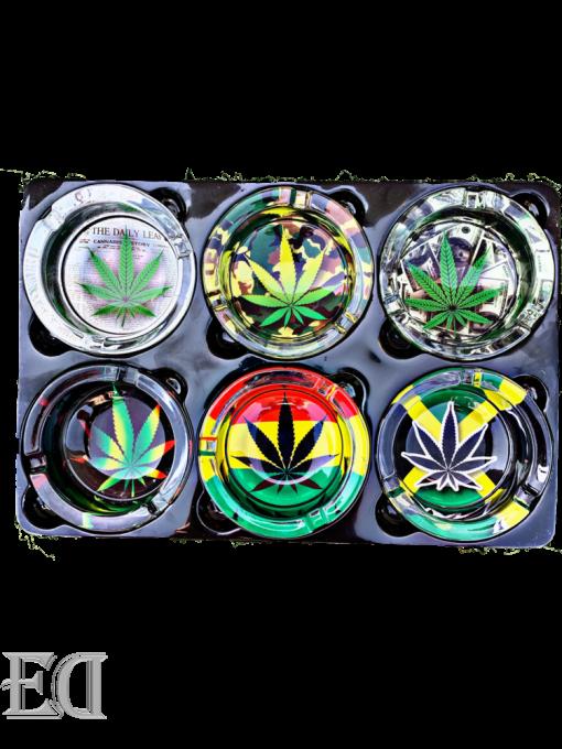 גאדג'טים מתנות מאפרה ירוק צבעוני קנאביס כלי עישון-6