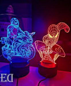 גאדג'טים מתנות מנורות לילה אופנוען ספיידרמן