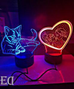 גאדג'טים מתנות מנורות לילה חתול ואוהבים