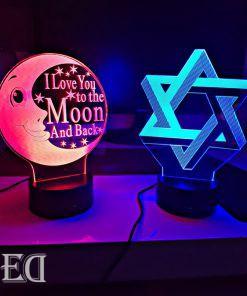 גאדג'טים מתנות מנורות לילה מגן דוד וירח