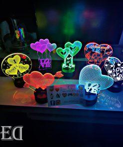 גאדג'טים מתנות מנורות לילה מנורות אהבה