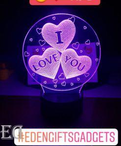 גאדג'טים מתנות מנורות לילה 3 לבבות