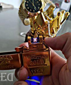גאדג'ט מצית חשמלי זהב-2