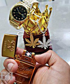 גאדג'ט מצית חשמלי זהב