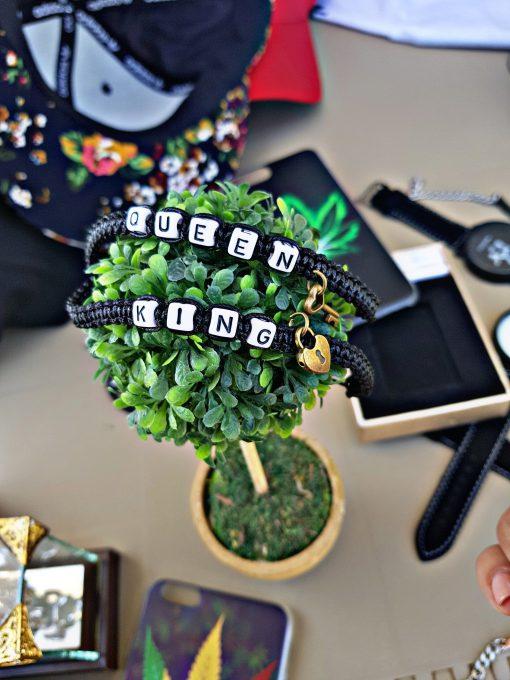 מתנה זוג צמידים שחור QK