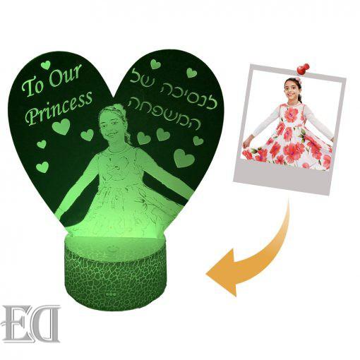 מנורת ילדים לילה בהזמנה אישית עיצוב אישי הקדשה אישית עדן מתנות ED