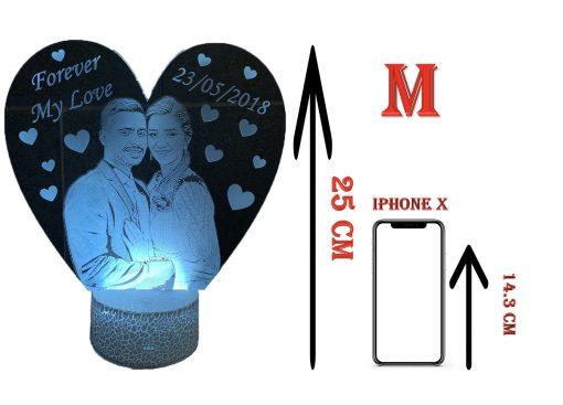 מנורת לילה וריאציות 25 cm