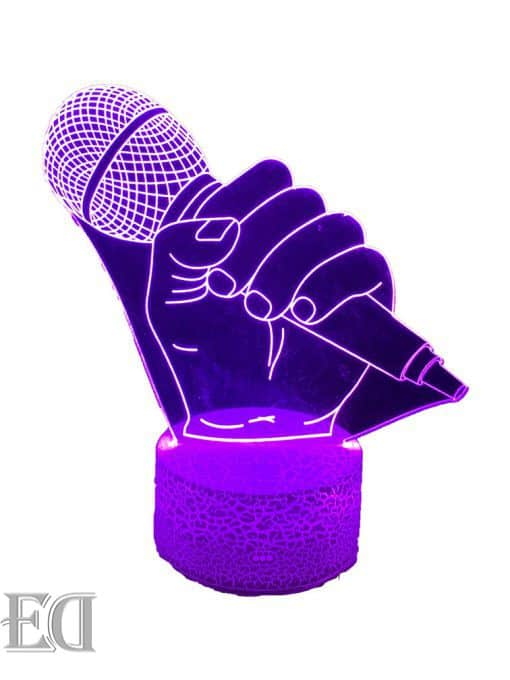 מנורת לילה מיקרופון קריוקי מתנה