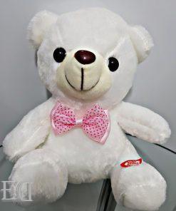 מתנה דובי לבן 20 סמ נדלק אורות