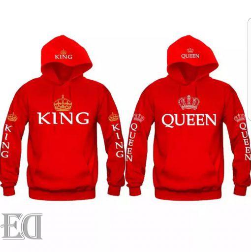 מתנה חולצות קינג קווין ארוכות-1