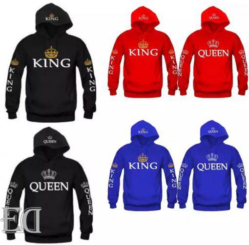 מתנה חולצות קינג קווין ארוכות