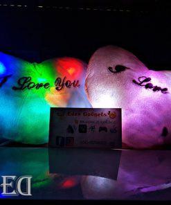 מתנה כרית לב עם אורות