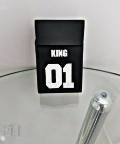 מתנות גאדג'טים כיסוי לסיגריות מלך שחור-3