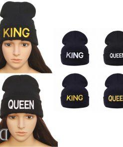 מתנות כובע צמר קווין קינג שחור-6
