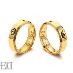 מתנות לגבר ולאישה טבעות זהב מלך מלכה קווין קינג-1