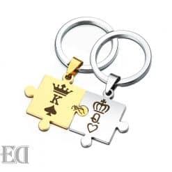 מתנות לגבר ולאישה מחזיק מפתחות פאזל זוגי-11