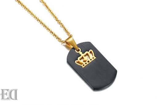 מתנות לגבר ולאישה שרשראות כתר בהקדשה אישית קינג קווין -7