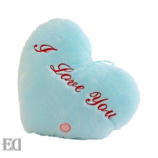 מתנות לגבר מתנות לאישה כרית לב-כחול