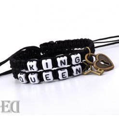מתנות צמידים חוטי קשירה מלך ומלכה