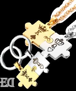 סט פאזל שרשראות ומחזיקי מפתחות