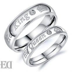 מתנות לגבר ולאישה טבעות כסף מלך מלכה קווין קינג-19